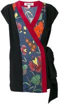 Diane von Furstenberg floral wrap blouse - women - Silk/Spandex/Elastane - 8