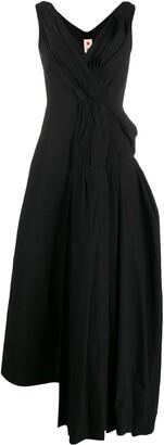 Marni Gathered Drape Detail Dress