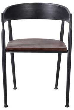 Williston Forge Friedell Metal Arm Chair in Silver Gray