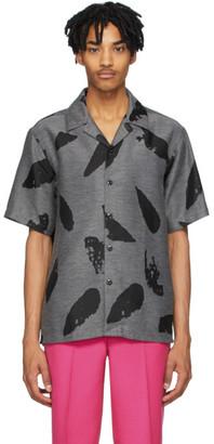 Ami Alexandre Mattiussi Grey and Black Printed Shirt