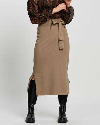 Mng Women's Neutrals Midi Skirts - Sofa-A Skirt - Size S at The Iconic
