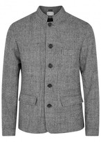 Oliver Spencer Coram Grey Checked Wool Jacket