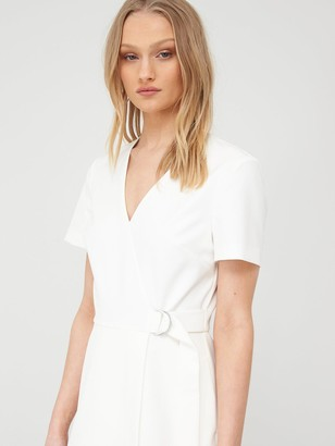 Ted Baker Marimel Short Sleeve Wrap Dress - White