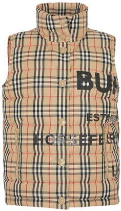 Burberry Checked Horseferry-print Quilted Gilet