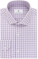 Ryan Seacrest Distinction Men's Slim-Fit Non-Iron Purple Multi-Check Dress Shirt, Only at Macy's