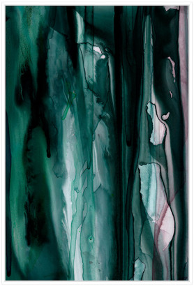 Jonathan Bass Studio Ink 6, Decorative Framed Hand Embellished Canvas