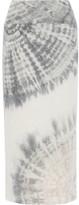 Raquel Allegra Tie-dyed Cotton-blend Jersey Maxi Skirt - Light gray