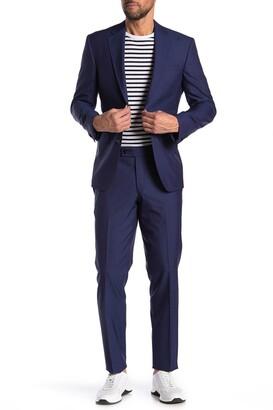Ted Baker Jarrow Blue Pattern Two Button Notch Lapel Trim Fit Suit