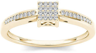 MODERN BRIDE 1/10 CT. T.W. Diamond 10K Yellow Gold Engagement Ring