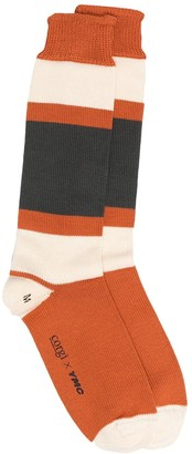 YMC Long Colour Block Socks