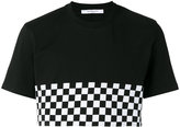 Givenchy check panel cropped T-shirt - men - Cotton - L