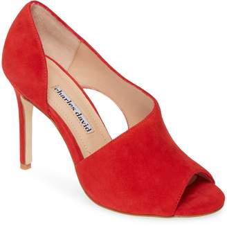 Charles David Congress Cutout Peep Toe Pump