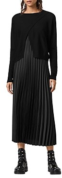 AllSaints Lori 2-in-1 Slip Dress