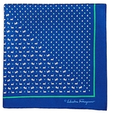 Salvatore Ferragamo Split Butterflies Puppies Pocket Square
