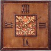 "Uttermost Scordia Clock 1.75 x 20 x 20"", Bronze"