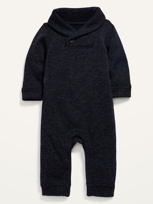 Old Navy Unisex Shawl-Collar Sweater-Knit One-Piece for Baby