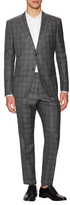 John Varvatos Wool Plaid Notch Lapel Suit