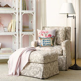 Gump's Miranda Chair & Ottoman, Taupe