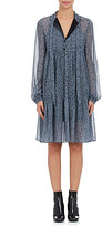 Robert Rodriguez Women's Floral-Print Silk Crepe Tieneck Dress-Light Blue