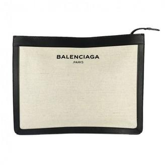Balenciaga Ecru Cloth Clutch bags