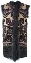 Etro fur gillet - women - Viscose/Wool/Polyamide/Lamb Fur - 44