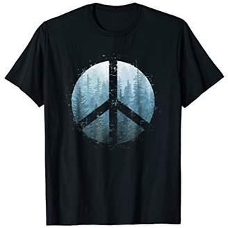 Peaceful Misty Forest T Shirt Design