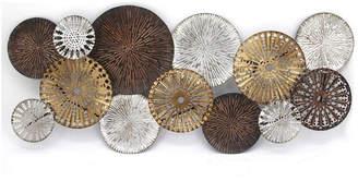 Sagebrook Home Silver/Bronze Circles Wall Sculpture