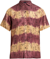 Lanvin Short-sleeved rose-print silk shirt