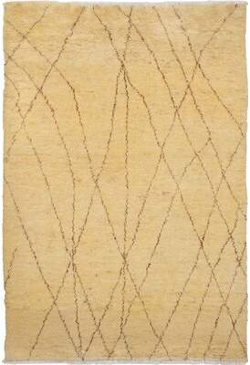 Nessa Isabelline One-of-a-Kind Hand-Knotted Wool Cream Area Rug Isabelline