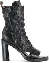 Ann Demeulemeester cut out heel boots