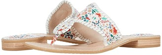 Jack Rogers Jacks Flat Sandal Icon Floral (Midnight) Women's Shoes