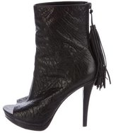 Vera Wang Leather Tassel Boots