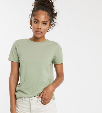 Asos DESIGN Tall ultimate organic cotton crew neck t-shirt in khaki