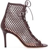 Gianvito Rossi Helena 90mm fishnet sandals