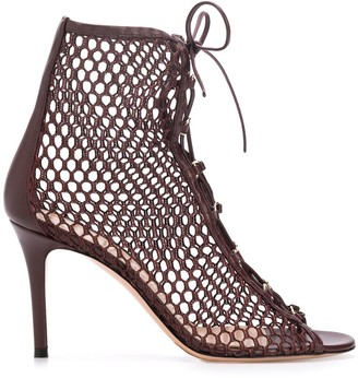Gianvito Rossi Helena 90mm fishnet sandals