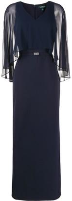 Lauren Ralph Lauren Catarina sheer-overlay gown