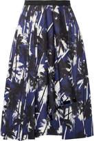 Jason Wu Grosgrain-trimmed Printed Cotton-poplin Skirt