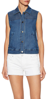 Plenty by Tracy Reese Denim Eyelet Vest