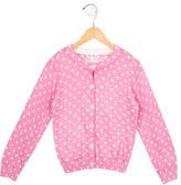 Rachel Riley Girls' Polka Dot Button-Up Cardigan