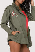 En Creme Embroidered Cargo Jacket