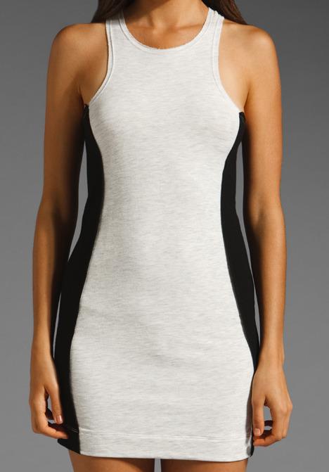 Dolan T-Shirt Cut-Out Dress in Black/Bleach