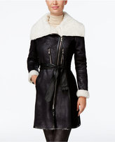 Vince Camuto Mixed-Media Faux-Shearling Coat