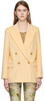 Acne Studios Yellow Corduroy Double-Breasted Blazer