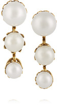 Erickson Beamon Pearly Queen Gold-plated Faux Pearl Earrings - one size