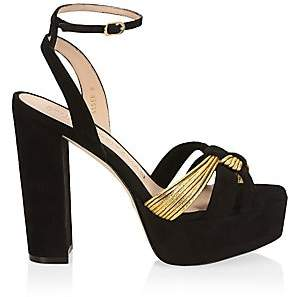 Stuart Weitzman Women's Kayley Suede Platform Sandals