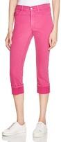 NYDJ Dayla Cuffed Cropped Jeans in Vivid Raspberry