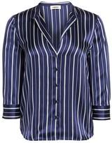L'Agence Aoki Pinstripe Silk Blouse