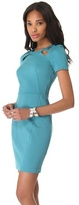 Halston Sheath Dress with Cutouts