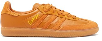 Adidas X Jonah Hill - Samba Suede-trimmed Leather Trainers - Brown
