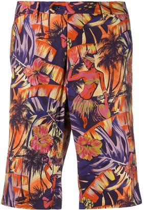 Etro Hawaiian print shorts